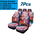 Universal Car Seat Covers Dreamcatcher Design Front Rear Seat Full Set Cover