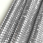 Sparkly Metal Mesh Fabric Chainmail Jewelry Making Metal Mesh Fabric 45150cm