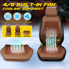 4 Fan Cooling 12v Car Seat Cushion Cover Air Ventilated Fan Cooler Pad Xz
