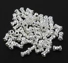 3 For 2 100 Silver Spacer Beads For Jewellery Making Different Styles