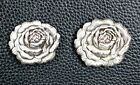 Lot Of 6 Pc Antique Silver Rose Concho Western Leather Craft Cowgirl 2 Sizes New