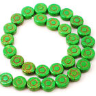 12x12mm Turquoise Sun Flower Beads 15 Red Green Blue Pink Purple Free Shipping