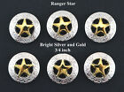 Conchos Lot Of 6 Pcs Ranger Star Western Leather Bs 9240 34  4 Colors New
