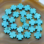 15mm Howlite Turquoise Cross Loose Spacer Beads 16 Pick Color