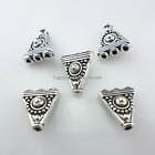 618pcs Tibetan Silver 1 To 3 Holes Triangle Connectors Spacer Beads 14.5x16mm