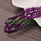 3468mm Glitter Opaque Bicone Faceted Crystal Glass Spacer Loose Beads Jewelry