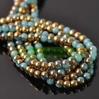 Wholesale 4mm 6mm 8mm Round Crystal Glass Charms Loose Spacer Beads Findings Hot