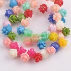 Wholesale Charms Synthetic Coral Resin Rosedaisy Flower Loose Spacer Beads New