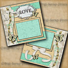 U-pick Wedding 2 Premade Scrapbook Pages Layouts For Album Paper By Digiscrap