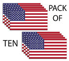 American Flag Usa Pack Of 10 Decals Sticker 3m Military Marines Army