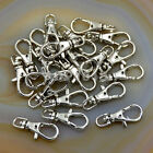 20pcs Lobster Claw Swivel Clasps Silver Plated 23mm 32mm Key Ring Jewelry Making