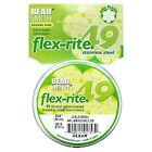 Beadsmith Flexrite Beading Wire 49 Strand 0.018 0.024 Clear - 30 Ft 100 Ft