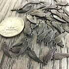 Angel Wing Charm Pewter 11x5mm 58pcs Gunmetal Gold Copper Jewelry Findings