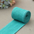2m Colorful Jute Fabric Burlap Ribbon Roll Hessian Ribbon Trim Tape Decoration G