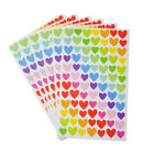 Lovely Colorful Star Love Heart Shaped Stickers Student Diary Book Decor 6pcs