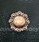 Western Saddle Horse Tack Copper Engraved Berry Conchos Screw Back Multi Size