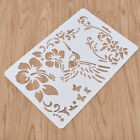 Butterfly Bird Flower Hollow Out Layering Stencils Wall Painting Stamp Album Diy