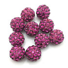 Wholesale 6 Row Quality Micro Pave Disco Crystal Shamballa Beads Bracelet Spacer