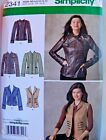 Simplicity Patterns Uc Vtg Womens Tops Jackets Coats Blouses Sizes 6-24