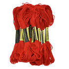 12 Pc Embroidery Floss Cross Stitch Cotton Yarn Thread Floss Sewing Skeins Craft