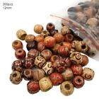 200pcs Mixed Large Hole Boho Wooden Beads For Macrame European Charms Crafts Diy