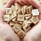 200pcs Wooden Letters Alphabet Scrabble Tiles Black Letters Numbers For Crafts
