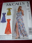 Mccalls M7745-ladies Beautiful Two Length Front Wrap Dress Pattern 14-22 Ff