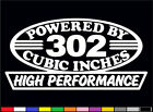 2 High Performance 302 Cubic Inches Decals Hp 5.0 V8 Engine Emblem Stickers