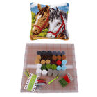 Latch Hook Kits Embroidery Crocheting Needlework Supplies For Diy Pillow Cover