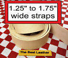 1.25 To 1.75 Vegetable Tanned Tooling Leather Belt Blanks Straps. Select Size