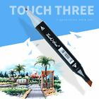243648 Colour Set Touch Markers Twin Tip Graphic Art Set Sketch Broad Fine Bz