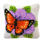 Diy Flower Latch Hook Kit For Embroidery Cushion Cover Pillow Case Chair Cushion