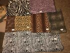 New Sewing Fabric Material Wild Animal Prints Zebra Leopard Giraffe Bty