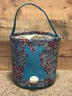 Lilly Inspired Bunny Easter Basket - Monogram Blank - Floral Paisley