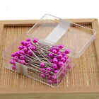 Dressmaking Sewing Pin Straight Pins Round Colorful Head Pearl Corsage Mini
