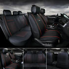 Universal Deluxe 5-seats Car Seat Cover Front Pu Leather Rear Cushion Wpillow