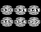 2 Early V8 Hemi Engine Decals 330-331-341-345-354-392 Vintage Motor Stickers