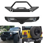 Front Rear Bumper Winch Plate D-ring Tire Carrier For 87-06 Yj Tj Jeep Wrangler