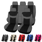 Universal Car Seat Covers Front Rear Head Rests Steering Wheel Belt Pad Full Set