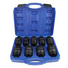 9pcs 6 Point 34 Metric Drive Deep Spindle Axle Nut Impact Socket Set 29mm-38mm