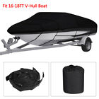 11-22ft Waterproof Heavy Duty Boat Cover Fishing Ski V-hull Trailerable Runabout