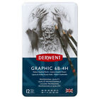 Derwent Graphic Drawing Pencils Soft Medium Or Hard In Metal Tin 12 Count