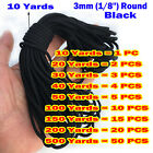 Black Elastic Band 3mm 18 Round For Sewing Diy Face Masks 10 Yards To 500 Y