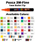 Uni Posca Marker Fine Paint Pens Size 3m Various Sets Of 6 With Free Wallet