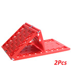 2pcs Car Emergency Rescue Anti-skid Board Recovery Tracks Sand Mud Snow Traction