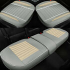 Universal Leather Car Seat Cover Front Rear Pad Full Surroound Cushion Protector