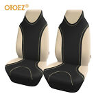 Otoez 2pcs Highback Car Front Seat Covers Protector Fit Most Car Suv Van Sedan