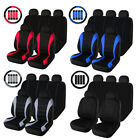 Universal Front Rear Full Set Car Seat Covers Wheadrest Steering Wheel Belt Pad