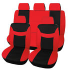 9pcs Universal Car Seat Covers Front Rear Wheadrests Full Set Protector