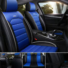 Luxury Car Seat Cover Waterproof Leather 5 Seats Full Set Front Rear Back Cover